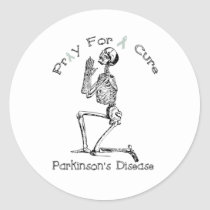 Pray For A Cure-Parkinson's Disease Classic Round Sticker