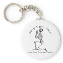 Pray For A Cure-Parkinson's Disease Keychain