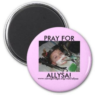 pray for allysa 2 inch round magnet