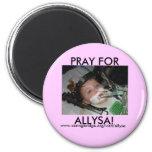 pray for allysa fridge magnets