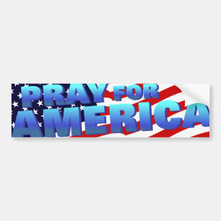 Pray for America 5 Bumper Sticker