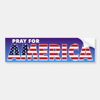 Pray for America Car Bumper Sticker