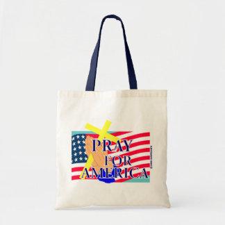 Pray for America christian design Tote Bag