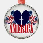 Pray for America Christmas Tree Ornament