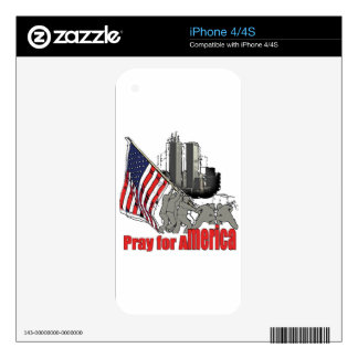 Pray for america iPhone 4S decal