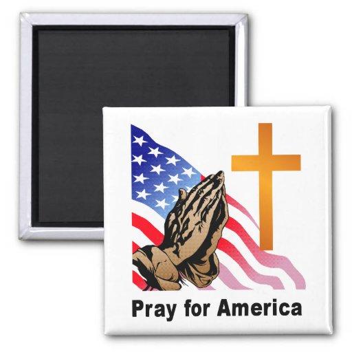 Pray for America Refrigerator Magnets