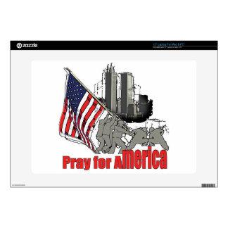 """Pray for america skin for 15"""" laptop"""