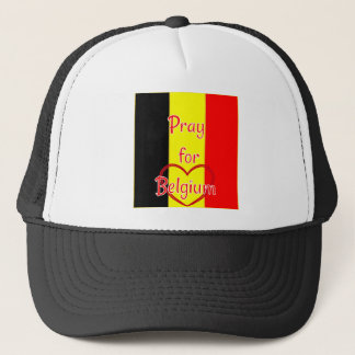 Pray for Belgium Trucker Hat