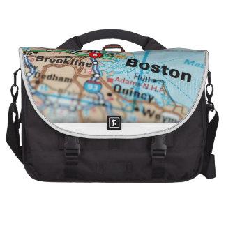 Pray For Boston Map Computer Bag