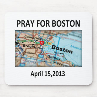 Pray For Boston Map Mouse Pad