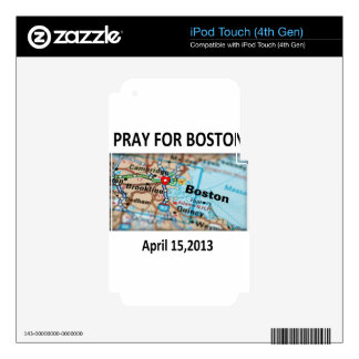 Pray For Boston Map Skins For iPod Touch 4G