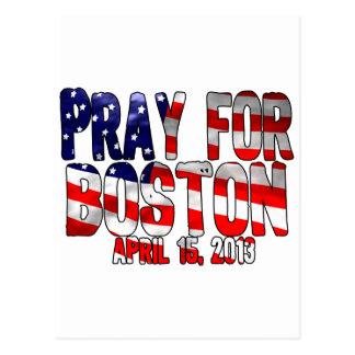 Pray For Boston Postcard