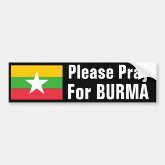 Pray for Burma Bumper Sticker