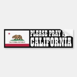 Pray for California Car Bumper Sticker