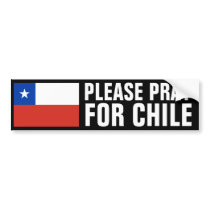 Pray for Chile Bumper Sticker