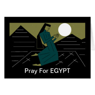 Pray For EGYPT Card