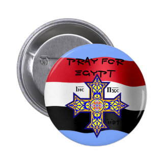 Pray for Egypt Coptic Cross - will donate proceeds Pinback Button