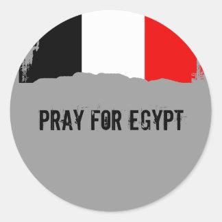 Pray for Egypt Round Stickers