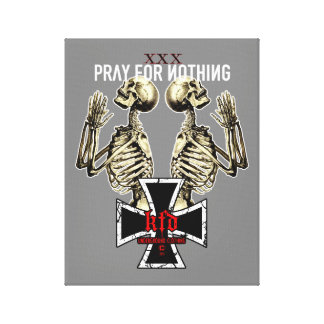 pray for emergency-hung canvas print