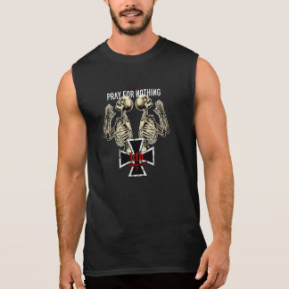 pray for emergency-hung sleeveless tees
