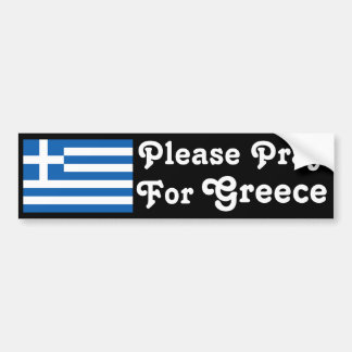Pray for Greece Bumper Sticker