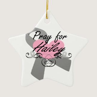 Pray for Hailey Ceramic Ornament