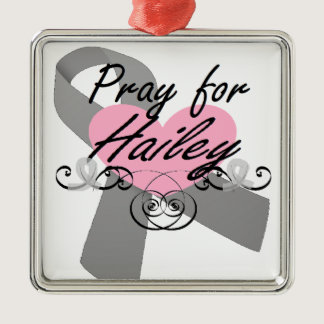 Pray for Hailey Metal Ornament