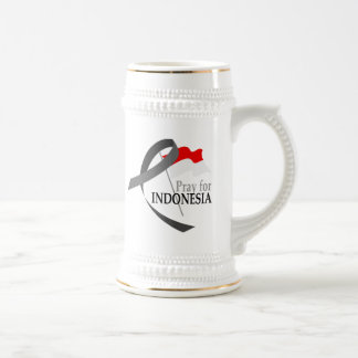 Pray for Indonesia 18 Oz Beer Stein