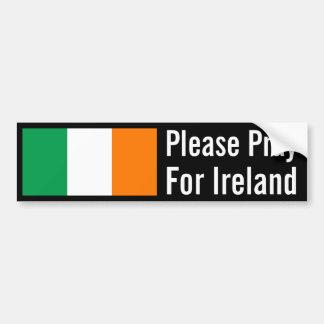 Pray for Ireland Bumper Sticker