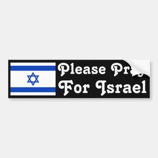 Pray for Israel Car Bumper Sticker