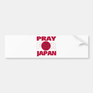 """Pray For Japan""  日本のために祈る Relief Shirt Bumper Sticker"