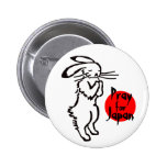 Pray for Japan (1 rabbit) Buttons