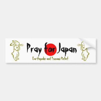 Pray for Japan (2 rabbits) Bumper Sticker