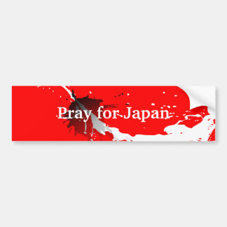 Pray for Japan Car Bumper Sticker