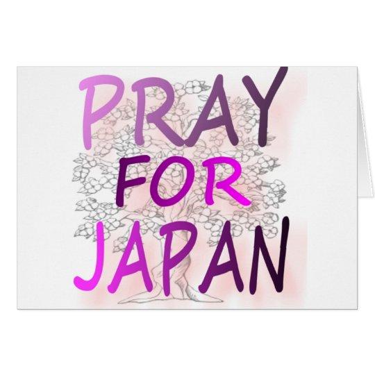 Pray For Japan Card