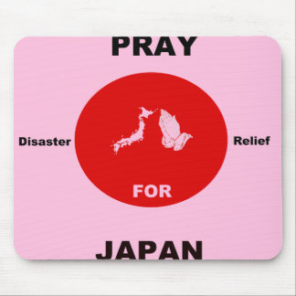 Pray for Japan disaster relief mousepad