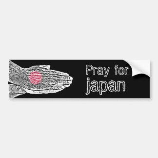 Pray for Japan - Flag Bumper Sticker