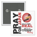 PRAY FOR JAPAN - HELP THEM HEAL 2 INCH SQUARE BUTTON
