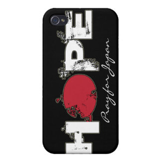 Pray for Japan - HOPE i iPhone 4/4S Covers