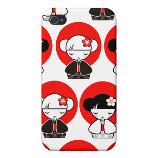 Pray for Japan Kokeshi Doll iPhone 4 iPhone 4/4S Covers
