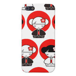 Pray for Japan Kokeshi Doll iPhone 4 iPhone 5 Case
