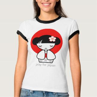 Pray for Japan Kokeshi Doll Tshirt