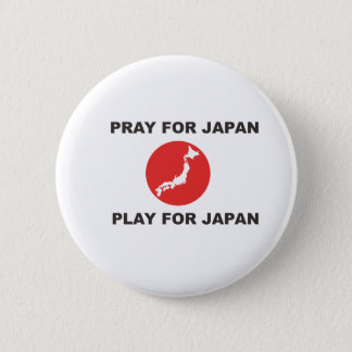 PRAY FOR JAPAN, PLAY FOR JAPAN. PINBACK BUTTON