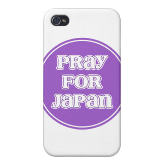Pray for Japan Purple Logo iPhone 4 Cover