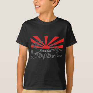 Pray for Japan with the Rising Sun T-Shirt