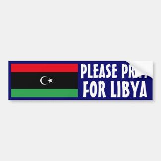 Pray for Libya Bumper Sticker