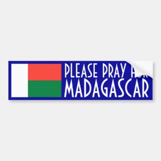 Pray for Madagascar Bumper Sticker