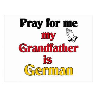 Pray for me Grandfather is German Postcard