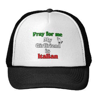 Pray For Me My Girlfriend Is Italian Mesh Hat