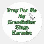 Pray for me my grandfather sings karaoke sticker